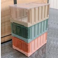 【收納+】特大號53*36*29cm-貨櫃多功能摺疊收納箱-露營必備粉橘