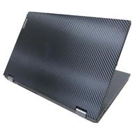【Ezstick】Lenovo IdeaPad C340 15 IML 黑色立體紋機身貼(含上蓋貼、鍵盤週圍貼、底部貼)
