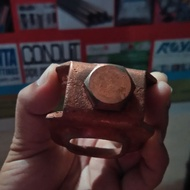 """Ground Rod Clamp 5/8"""" copper plated"""