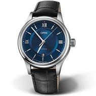 ORIS 豪利時 CLASSIC日期機械錶 0173377194075-0752035 藍