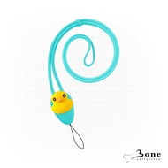 【Bone】大逗扣彈力頸掛繩-鴨子(證件掛繩 手機掛繩)