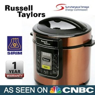 Russell Taylors 6L Pressure Cooker Stainless Steel Pot PC-60 - Rice Cooker