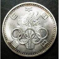 店長推薦▆日本1964年昭和39年東京奧運會100元紀念幣火炬銀幣外國硬幣收藏