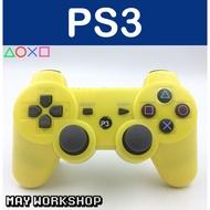 副廠 / P3 PS3 無線 振動 手把 控制器 黃色 全新品 / 支援 Steam / MAY