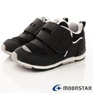 ★日本月星Moonstar機能童鞋HI系列寬楦頂級學步鞋款22706黑(中小童段)
