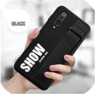 Huawei P30 Pro P20 Lite Nova 5I 5T 3E 3 3I P Smart Plus P10 Mate 30 20 Honor Case Soft Silicon Matt Cover Hand Strap Funda、For Huawei Nova 3、Black