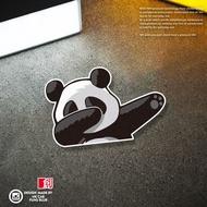 Funny Cartoon Panda Hip-Hop Gesture Fun Reflective Car Stickers