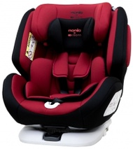 【Nania】 納尼亞 納歐聯名 360度旋轉 0-12歲 Isofix 汽車安全座椅 (紅/灰)