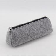 無印良品韓國簡約可愛毛氈筆袋學生男女大容量鉛筆袋創意文具盒