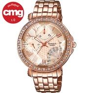 Casio Sheen นาฬิกาข้อมือผู้หญิง SWAROVSKI พิงค์โกลด์ สายสแตนเลส รุ่น SHN-3011