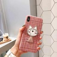 ตุ๊กตาแมวการ์ตูนเคสโทรศัพท์สำหรับ IPhone 11 PRO MAX XR TPU เคสซิลิโคนสำหรับ IPhone 8 7 6 XS XR น่ารักสร้างสรรค์ผู้หญิงเคสโทรศัพท์ DZ00145