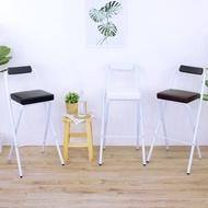 頂堅 厚5公分泡棉沙發(皮革椅座)高腳折疊椅 吧台餐椅 櫃台摺疊椅 洽談吧檯椅 三色