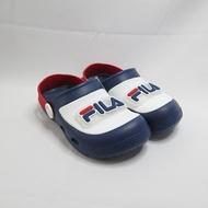 FILA 涼鞋 兒童拖鞋 電燈園丁鞋 中童鞋 7S451V133 閃燈鞋 藍白紅【iSport愛運動】