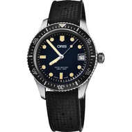 【ORIS 豪利時】Divers Sixty-Five 潛水機械女錶-藍x黑錶帶/36mm(0173377474055-0741718)