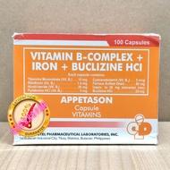 APPETASON Vitamin B-Complex + Iron + Buclizine HCI 100 Capsules