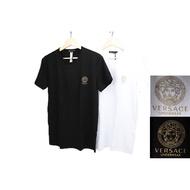 VERSACE MEDUSA HEAD PRINTED T-SHIRT 黑標 素T 凡賽斯 女王頭 義大利製【高冠國際】