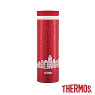 THERMOS膳魔師不鏽鋼真空保溫杯0.5L(JNO-500)-CH(紅色聖誕)