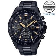 Time&Time CASIO Edifice นาฬิกาข้อมือผู้ชาย สีดำ/ทอง สายสแตนเลส รุ่น EFV-550DC-1AVUDF (CMG)