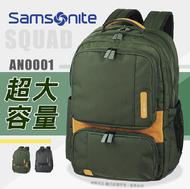 《熊熊先生》超值特賣 6折 Samsonite新秀麗SQUAD系列AN0筆電後背包14吋電腦平板筆電可插掛行李箱拉桿ANO