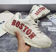 🔥พร้อมขาย! 🔥รองเท้าหนังMLB boston☑️งานแท้100% box set รองเท้าผ้าใบชายหญิง รองเท้าแฟชั่น รองเท้าลำลอง