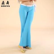 批發肚皮舞服裝 水晶棉練習褲子 女成人印度舞蹈練功長褲 腰帶褲