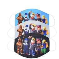 Cartoon Roblox 3D Printed Face Mask Design Kids Baby Boys Breathable Cotton Masks Anti Dust Face Mask