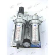 台灣製THB FRL892(802)空壓機 兩段式三點組合 金屬保護杯防爆 調壓濾水器+潤滑功能 濾水器 空壓機濾水器