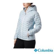 【Columbia 哥倫比亞】女款-Omni-HEAT 鋁點保暖連帽外套-淺灰(UWK14990LY / 保暖.防潑.休閒)