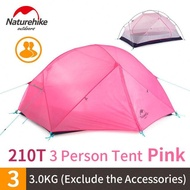 NatureHike Mongar Camping เต็นท์2คน Ultralight 210T โพลีเอสเตอร์อะลูมินัมอัลลอยเสาสองชั้นเดินป่ากลางแจ้งแฟชั่น