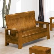 19 歡樂購-588型樟木色組椅-2人/二人/兩人木椅/木沙發 KH5-3