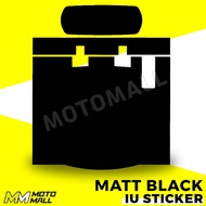 Motorcycle IU Sticker / Decal Matt Black Plain design