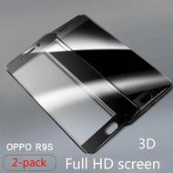 (2 pek) OPPO r9s serat karbon bertetulang filem (Hitam) skrin penuh skrin penuh perlindungan หมวก Jari Anti - letupan filem 3D