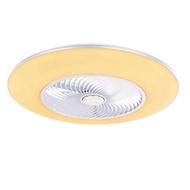 【特力屋】20吋循環吊扇附40W LED吸頂燈-霧銀