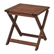 IKEA ÄPPLARÖ 戶外椅凳, 折疊式 棕色