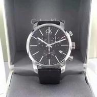 世界名錶 全新CK手錶男錶CITY系列時尚多功能三眼計時日曆石英男士腕錶K2G276G3 CK三眼
