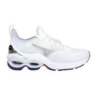 (女) MIZUNO WAVE CREATION 22 WAVEKNIT慢跑鞋 白紫銀