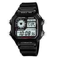 Casio นาฬิกาข้อมือผู้ชาย สายสแตนเลส รุ่น AE-1200WHD-1A, AE-1200WH-1A, AE1200WH-1B  โค๊ดส่วนลด 100บาท โค๊ด (NEWMSME)