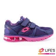 LOTTO 義大利 女 DELL氣墊健走鞋 (紫)