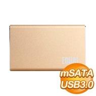 EQ mSATA 轉 U3 外接SSD套組《金》