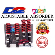 D2 ADJUSTABLE SENTRA B13 B14 N16 ALMERA LIVINA CEFIRO LATIO SYLPHY HI LOW BODY SHIFT ABSORBER SPRING COILOVER A31 A32