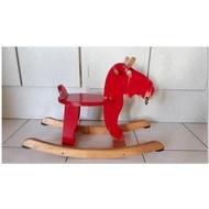 二手 寶寶搖搖馬 嬰兒小木馬搖椅玩具(木製)  NTD250(自取)