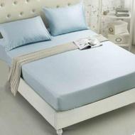 【JEN】素色雙人單件床包-淺藍色150*200cm(雙人)