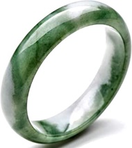 Classic Retro Oriental Style Natural Jade Bangle Floating Green Round Bar Link Bracelet,Crystal Natural Stone For Men Women Holiday Gift. (Size : 58-60mm)
