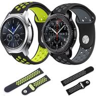 三星galaxy watch 42/46mm手表表帶 s4運動透氣矽膠20/22mm表帶s3 華米1/2代青春版智能表帶amazfit gtr表帶