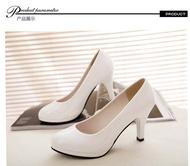 🔥พร้อมส่ง🔥 🍒รองเท้าคัชชูส้นสูงรองเท้าแฟชั่น รองเท้าส้นสูงผู้หญิง ส้นสูง 3  นิ้ว F039