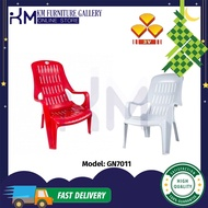 KM Furniture 3V Heavy Duty High Back Plastic Relax Chair/ Lazy Chair / Comfortable Chair with Arm Rest/ Kerusi Malas