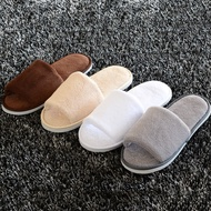 Hotel Coral Velvet Slippers Non-disposable Home Guest Slipper Warm Fluffy Shoes