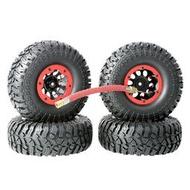 1比10攀爬車1.9寸充氣輪胎直徑114mm超軟碎石胎皮SCX10攀岩胎