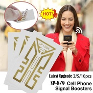 SP-8/9 Generation Cellphone 4G 5G Phone Signal Enhancement Sticker Gen X Antenna Booster Improve For Mobile Phone Latest Upgrade 1/5/10pcs