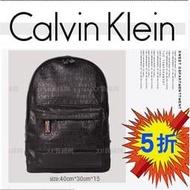 美國原廠正品 Calvin Klein /CK 單肩包 側背包 後背包 公事包 商務包 潮男必備背包 LOGO皮質款